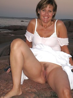 Mature women upskirt