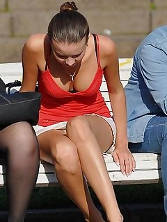 Upskirt in public