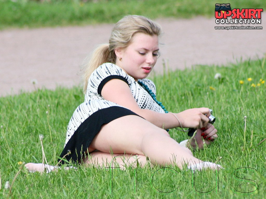 Upskirt hunter working in the park